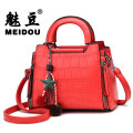 Bag Inclined shoulder bag PU Small square bag brand new Japan and South Korea Small leisure time soft zipper no Solid color Single root One shoulder portable messenger Yes youth Horizontal square Crocodile pattern Hard handle polyester fiber soft surface Inner patch pocket