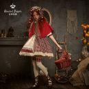 Lolita / soft girl / dress Classic doll Red, brown S [spot], m [spot], l [spot]