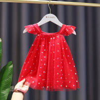 Dress Red, white female Other / other Other 100% summer princess Skirt / vest Dot cotton A-line skirt 12 months, 9 months, 18 months, 2 years, 3 years, 4 years Chinese Mainland Zhejiang Province Taizhou City