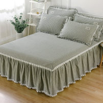 Bed skirt cotton Xirui pink bed skirt, Xirui pink bed sheet, Xirui coffee bed skirt, Xirui coffee bed sheet, Xirui grey bed skirt, Xirui grey bed sheet Other / other stripe Qualified products JLY-CQ531