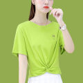 Women's large Summer 2021 Pink orange white green M L XL T-shirt singleton  commute Straight cylinder Socket Short sleeve Korean version Crew neck routine 16167TX49 First reading 18-24 years old 91% (inclusive) - 95% (inclusive) Cotton 91.2% polyurethane elastic fiber (spandex) 8.8%