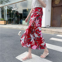 skirt Summer 2020 One size fits all Red background Wild Peony white background Wild Peony blue background Wild Peony Mid length dress Versatile High waist A-line skirt Decor Type A BSQ-BSQ405 More than 95% other Miyakaman other Lace up print Other 100% Pure e-commerce (online only)