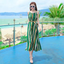 Dress Summer of 2019 Picture color dfl19a507 S M L XL longuette singleton  Sleeveless Sweet Crew neck Loose waist stripe Socket A-line skirt camisole 25-29 years old Type A Deelfolian / dove DFL19A507 More than 95% polyester fiber Polyester 100% Bohemia Pure e-commerce (online only)