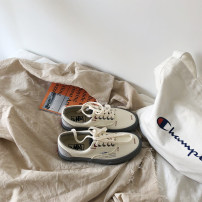 canvas shoe Bonnai (footwear) Low Gang Beige 35 36 37 38 39 40 41 42 43 Autumn of 2018 Frenulum Korean version rubber Solid color Youth (18-40 years old) eight thousand and thirty-eight Vulcanization process