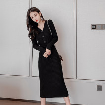 Wool knitwear Winter of 2019 S M L XL Long sleeves singleton  Socket other More than 95% Medium length routine Sweet Self cultivation V-neck routine Solid color Socket Yingxuelan Threaded button Other 100% Pure e-commerce (online only) Mori