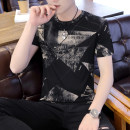 T-shirt Youth fashion routine M L XL 2XL 3XL Bund diary Short sleeve Crew neck Self cultivation Other leisure summer Cotton 63.7% polyester 36.3% youth routine tide Summer 2021 Alphanumeric printing cotton Creative interest No iron treatment Pure e-commerce (online only)