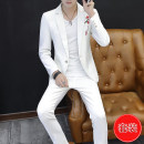 man 's suit White Black Beige white T-shirt black T-shirt Beige T-shirt Type Shang set Fashion City routine 165/M 170/L 175/XL 180/XXL 185/XXXL XSJXF18990161 Polyester 70.8% viscose 29.2% Autumn of 2018 Self cultivation A single breasted button Other leisure No slits Pure e-commerce (online only)