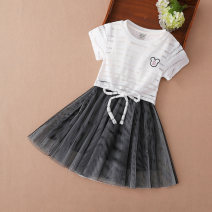 Dress female Kuyebeam / kuyebear 110cm 120cm 130cm 140cm 150cm 160cm Polyester 100% summer Korean version Short sleeve other other Cake skirt Class B Summer of 2019 3 years old, 4 years old, 5 years old, 6 years old, 7 years old, 8 years old, 9 years old, 10 years old, 11 years old, 12 years old