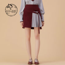 skirt Winter 2020 160/S 165/M 170/L 175/XL oxblood red Short skirt commute Natural waist 25-29 years old DH204M92235D More than 95% D-harry / dihari polyester fiber Britain Polyester 98.6% polyurethane elastic fiber (spandex) 1.4% Same model in shopping mall (sold online and offline)