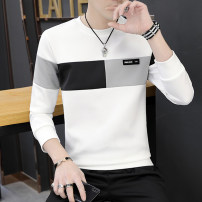 T-shirt Youth fashion 195f [Chunqiu thin style] white 195f [Chunqiu thin style] black 195f [Chunqiu thin style] gray routine M L XL 2XL 3XL Rate Long sleeves Crew neck Self cultivation Other leisure spring LD2019TX-195F Polyester 95% polyurethane elastic fiber (spandex) 5% teenagers routine Assembly