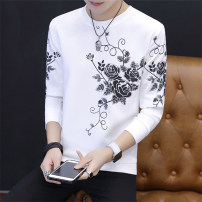 Sweater Youth fashion Rate M L XL 2XL 3XL Plants and flowers Socket routine Crew neck Slim fit leisure time teenagers tide routine Polyester 95% polyurethane elastic fiber (spandex) 5% printing No iron treatment Spring of 2018 Japanese and Korean style