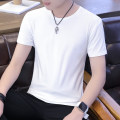 T-shirt other Solid round neck short sleeve black solid round neck short sleeve white thin M L XL 2XL 3XL Rate Short sleeve Crew neck Self cultivation daily summer LDTXYC-CSTX Polyester 95% polyurethane elastic fiber (spandex) 5% teenagers routine Basic public Summer of 2018 Solid color