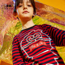 T-shirt Tc980 red black stripe tc980 black white stripe Red Black Stripe Black White Stripe Little tiger baby male spring and autumn Long sleeves Crew neck leisure time There are models in the real shooting nothing Cotton blended fabric stripe Cotton 95% polyurethane elastic fiber (spandex) 5% Suzhou