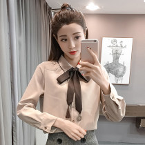shirt SMLXL Spring of 2018 Long sleeves commute Regular Polo collar Single row multi button shirt sleeve Solid color 18-24 years old Straight cylinder
