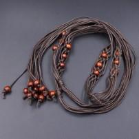 Belt / belt / chain Wax rope female Versatile Single loop Middle aged youth Flower design soft surface Odysbon 165cm Summer of 2019