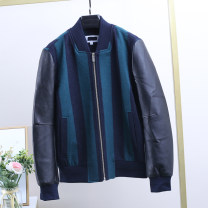 Jacket Xking / Exxon other Green stripe S-165/84A,M-170/88A easy Other leisure winter Wool 70% polyester 30% Long sleeves Wear out Basic public youth routine Zipper placket 2020 Rib hem stripe Bag digging with open cut thread wool 70% (inclusive) - 79% (inclusive)