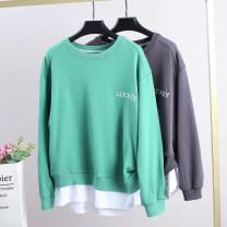 T-shirt Dark grey, green S,M,L Autumn 2020 cotton 71% (inclusive) - 85% (inclusive) Xking / Exxon