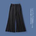 Casual pants Black a-8-13-4 XS,S,M,L,XL Autumn 2020 trousers Wide leg pants Natural waist Versatile routine Lady Boya