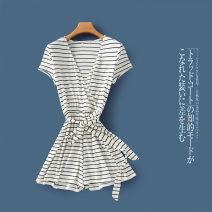 Casual pants Picture color c-4-11-3, picture color (without belt) c-4-11-3 XS,S,M,L,XL Summer 2020 shorts Jumpsuit Natural waist Versatile routine Lady Boya