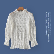 Lace / Chiffon Autumn 2020 Beige c-5-5-3, coffee c-5-5-3, black c-5-5-3 Average size Long sleeves Versatile Socket singleton  Self cultivation Half high collar Solid color routine Lady Boya Cut out, lace