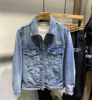 Jacket Other / other Fashion City blue M,L,XL,2XL,3XL routine standard Other leisure spring Cotton 70% polyester 28% polyurethane elastic fiber (spandex) 2% Long sleeves Wear out stand collar tide youth routine Zipper placket Rib hem No iron treatment Closing sleeve Solid color polyester fiber