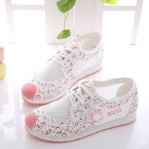canvas shoe Low Gang Pink Lake Blue 30 31 32 33 34 35 36 37 38 39 40 Summer 2020 Frenulum Korean version rubber Solid color Youth (18-40 years old) Cross strap mesh cutout 822-1 Pure e-commerce (online only)