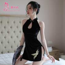 Dress Summer of 2019 black Suitable for about 80-115 kg 18-24 years old other