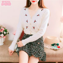 Dress Winter 2020 S M L Miniskirt Two piece set Long sleeves Sweet V-neck High waist Solid color Socket Princess Dress Princess sleeve Others 18-24 years old Type A Jonana More than 95% other other Other 100% princess Pure e-commerce (online only)
