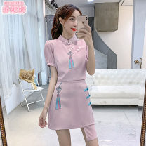 Fashion suit Summer 2020 S M L White pink 25-35 years old Jonana cotton Other 100% Pure e-commerce (online only)