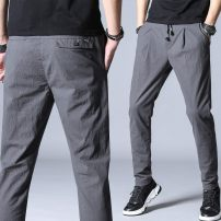 Casual pants Others Youth fashion Grey, black, 1520 28,29,30,31,32,33,34,36,38 trousers motion easy Micro bomb sfxs-5506 summer youth Exquisite Korean style 2018 middle-waisted Cotton 98% polyurethane elastic fiber (spandex) 2% Sports pants Pocket decoration No iron treatment Solid color cotton