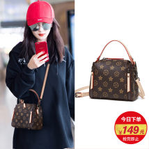 Bag PVC Shoulder Bags Bucket bag Martha Shoulder Messenger brand new European and American fashion Casual small No Single soft zipper Text youth Have