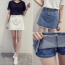 skirt Summer of 2019 Short skirt commute High waist Denim skirt Solid color Type A 18-24 years old More than 95% Denim Crnagoose / Xiangna goose other Korean version Other 100.00%