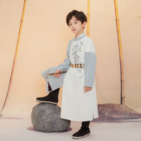 Tang costume Tang round collar robe - May 30 - June 20 110cm 120cm 130cm 140cm 150cm Polyethylene terephthalate (PET) 98% polyurethane elastic fiber (spandex) 2% male spring and autumn There are models in the real shooting routine Initial establishment other Class B other CYL118 Chinese Mainland