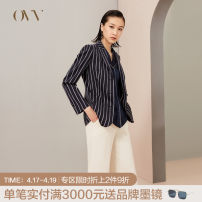suit Spring of 2019 S M L XL XS Long sleeves routine easy Refutation Single breasted commute routine stripe 30-34 years old 96% and above wool OVV