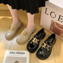 Low top shoes 36 37 38 39 40 FANRSEEN Black Beige Round head PU Thick heel Middle heel (3-5cm) Deep mouth PU Spring 2021 Youth (18-40 years old) Single shoes leisure time