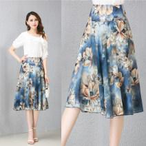 skirt Summer 2020 20: Waist 2 feet, 21: waist 2 feet 1, 22: waist 2 feet 2, 23: waist 2 feet 3, 24: waist 2 feet 4, 25: waist 2 feet 5, 26: waist 2 feet 6, 27: waist 2 feet 7, 28: waist 2 feet 8 Middle-skirt Versatile High waist High waist skirt Decor Type A N779 Chiffon