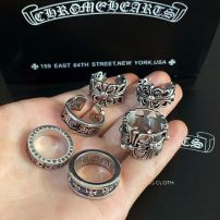 Ring / ring Titanium steel 51-100 yuan have a style of one 's own brand new goods in stock Punk lovers Fresh out of the oven Not inlaid Cross / crown / Roman numerals