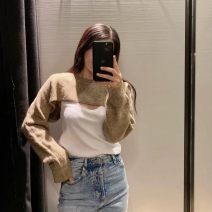 T-shirt As shown in the figure S,M,L Autumn 2020 Long sleeves Crew neck easy Regular routine commute other 31% (inclusive) - 50% (inclusive) 18-24 years old Korean version Solid color