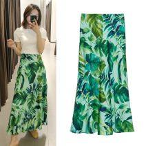 skirt Summer 2020 XS,S,M,L As shown in the figure longuette commute High waist High waist skirt Retro