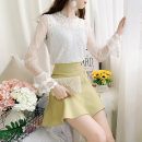 Fashion suit Autumn of 2019 S,M,L,XL White top + green skirt, white top + yellow skirt, white top + black skirt 18-25 years old 81% (inclusive) - 90% (inclusive)