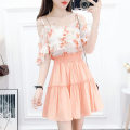 Fashion suit Autumn 2020 S,M,L Yellow top + yellow skirt, orange Top + orange skirt, green top + green skirt, green top + orange skirt 18-25 years old Other / other 81% (inclusive) - 90% (inclusive)