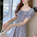 Dress Summer 2021 Picture color S,M,L,XL,2XL Miniskirt singleton  Short sleeve commute One word collar High waist Decor Socket other routine Others 18-24 years old Type A Korean version 5120# 81% (inclusive) - 90% (inclusive) Chiffon polyester fiber