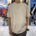 T-shirt Youth fashion white , green , Carbon color , Navy Blue routine Average size Others Short sleeve Crew neck easy daily spring