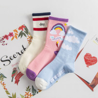 Socks / base socks / silk socks / leg socks female Other / other Average size 1 pair routine Middle cylinder Four seasons other cotton Leg shaping jacquard weave Common crotch