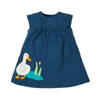 Dress navy blue female Other / other 2T is suitable for height about 85, 3T is suitable for height about 90, 4T is suitable for height about 100, 5T is suitable for height about 110, 6T is suitable for height about 120, 7T is suitable for height about 125 Cotton 95% other 5% summer leisure time