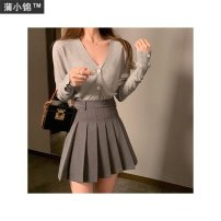 skirt Summer 2020 S is scheduled for 12 working days, M is scheduled for 12 working days, l is scheduled for 12 working days Gray, black Short skirt commute High waist Pleated skirt Solid color 18-24 years old j7PA3f5K chinstudio Korean version