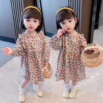 Dress Picture color female Other / other 80cm,90cm,100cm,110cm,120cm,130cm Other 100% spring Korean version Long sleeves Broken flowers cotton Lotus leaf edge Xls464 & back ribbon flower skirt Class B 18 months, 2 years old, 3 years old, 4 years old, 5 years old, 6 years old, 7 years old, 8 years old