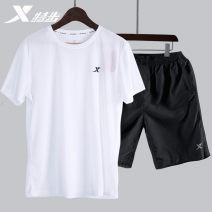 Sports suit White suit dark grey suit black suit dark blue suit one piece 9158 white 880229960210A XTEP / Tebu male S M L XL XXL XXXL Short sleeve Crew neck shorts Socket Spring 2020 Sports & Leisure Quick drying, ultra light and breathable Sports life polyester fiber Badge brand logo yes