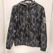Sports jacket / jacket Erke / hongxingerke male M-165,L-170,XL-175,2XL-180,3XL-185 002 right black Spring 2020 Hood zipper Badge, color contrast, brand logo, pattern, letter, gradient, camouflage, light version, offset printing run Running series