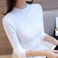 Wool knitwear Winter 2017 M L XL White black Long sleeves singleton  Socket other More than 95% Regular routine commute Self cultivation Half height crew neck routine Solid color Socket Korean version 25-29 years old Senyashu Other 100%